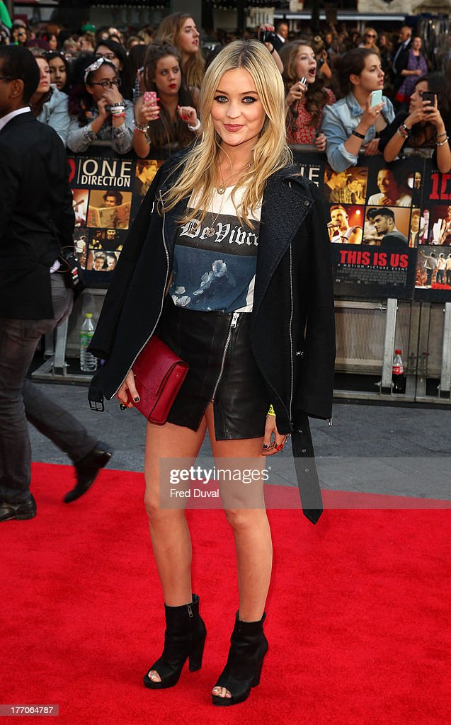 <a gi-track='captionPersonalityLinkClicked' href=/galleries/search?phrase=Laura+Whitmore&family=editorial&specificpeople=5599316 ng-click='$event.stopPropagation()'>Laura Whitmore</a> attends the World Premiere of 'One Direction: This Is Us' at Empire Leicester Square on August 20, 2013 in London, England.