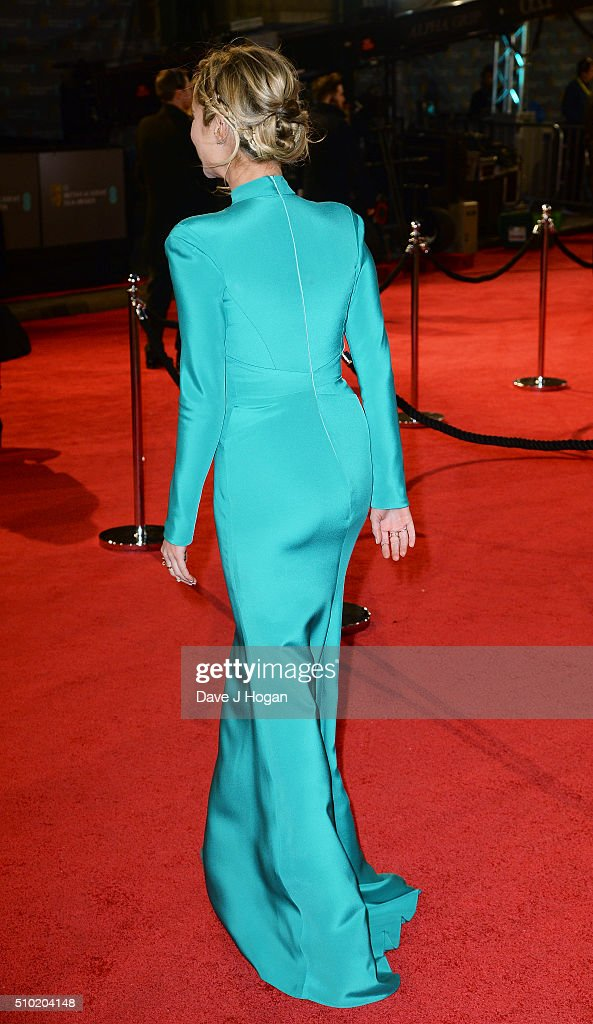 <a gi-track='captionPersonalityLinkClicked' href=/galleries/search?phrase=Laura+Whitmore&family=editorial&specificpeople=5599316 ng-click='$event.stopPropagation()'>Laura Whitmore</a>, dress detail, attends the EE British Academy Film Awards at The Royal Opera House on February 14, 2016 in London, England.