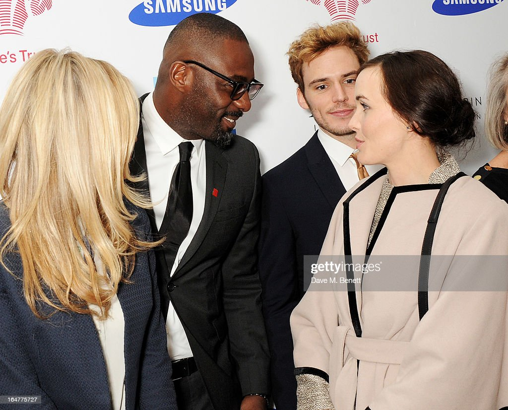 Laura Whitmore, Idris Elba, Sam Claflin and Victoria Pendleton attend The Prince's Trust & Samsung Celebrate Success Awards at Odeon Leicester Square on March 26, 2013 in London, England.