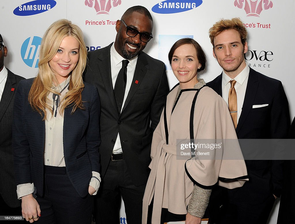 Laura Whitmore, Idris Elba, Victoria Pendleton and Sam Claflin attend The Prince's Trust & Samsung Celebrate Success Awards at Odeon Leicester Square on March 26, 2013 in London, England.