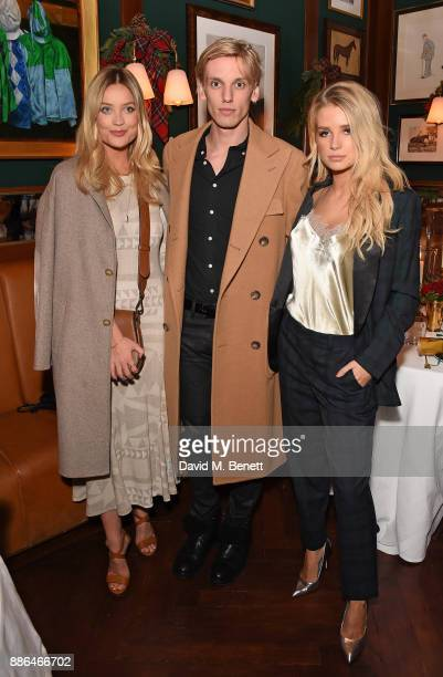 Laura Whitmore Jamie Campbell Bower and Lottie Moss attend the Polo Bear Holiday Dinner hosted by Polo Ralph Lauren and Alexandra Richards at Ralph's...
