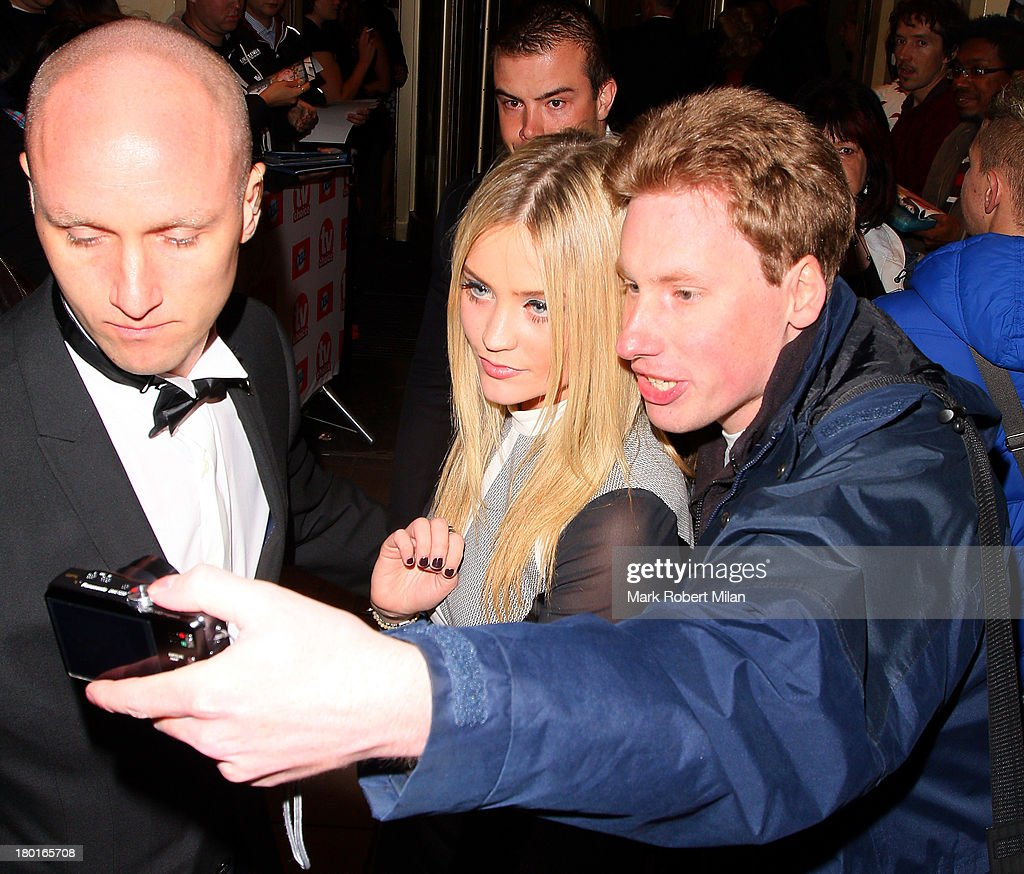 <a gi-track='captionPersonalityLinkClicked' href=/galleries/search?phrase=Laura+Whitmore&family=editorial&specificpeople=5599316 ng-click='$event.stopPropagation()'>Laura Whitmore</a> leaving the TV Choice awards ceremony held at the Dorchester hotel on September 9, 2013 in London, England.