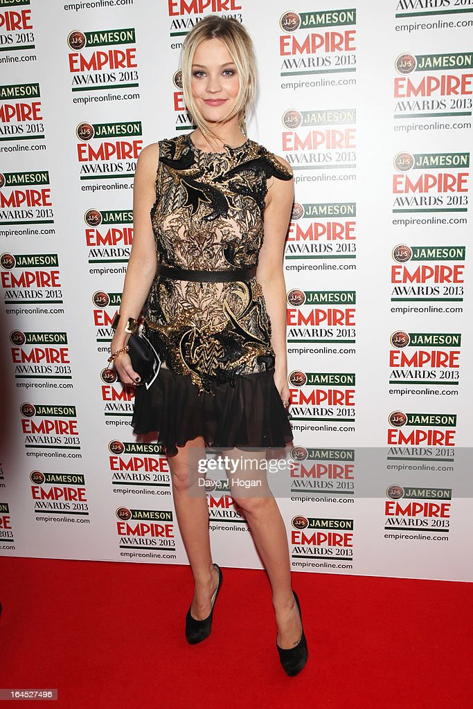 Laura Whitmore poses in the press room at the Jameson Empire Awards 2013 at Grosvenor House Hotel on March 24, 2013 in London, England.