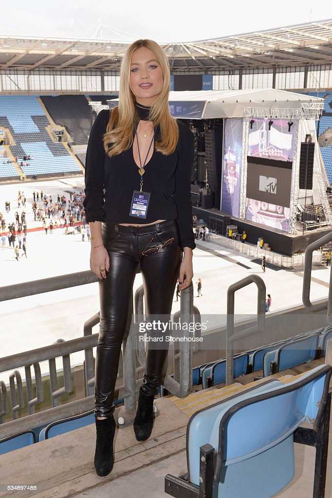 <a gi-track='captionPersonalityLinkClicked' href=/galleries/search?phrase=Laura+Whitmore&family=editorial&specificpeople=5599316 ng-click='$event.stopPropagation()'>Laura Whitmore</a> poses in the press room during 'MTV Crashes Coventry' at Ricoh Arena on May 27, 2016 in Coventry, England.
