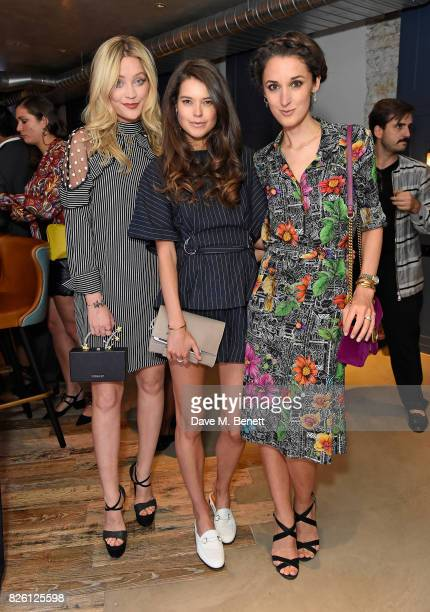 Laura Whitmore Sarah Ann Macklin and Rosanna Falconer attend the launch party for PFChang's Asian Table restaurant which opens to the public on...