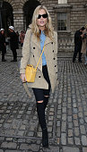 Laura Whitmore seen arriving at Somerset House on February 20 2015 in London England