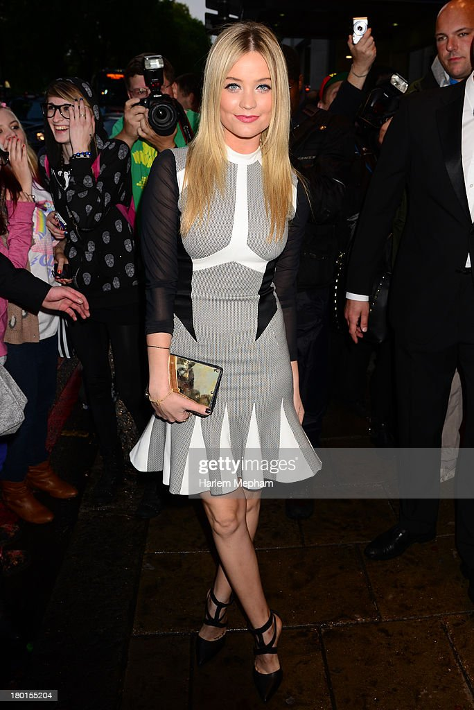 <a gi-track='captionPersonalityLinkClicked' href=/galleries/search?phrase=Laura+Whitmore&family=editorial&specificpeople=5599316 ng-click='$event.stopPropagation()'>Laura Whitmore</a> sighted arriving at the Dorchester Hotel on September 9, 2013 in London, England.
