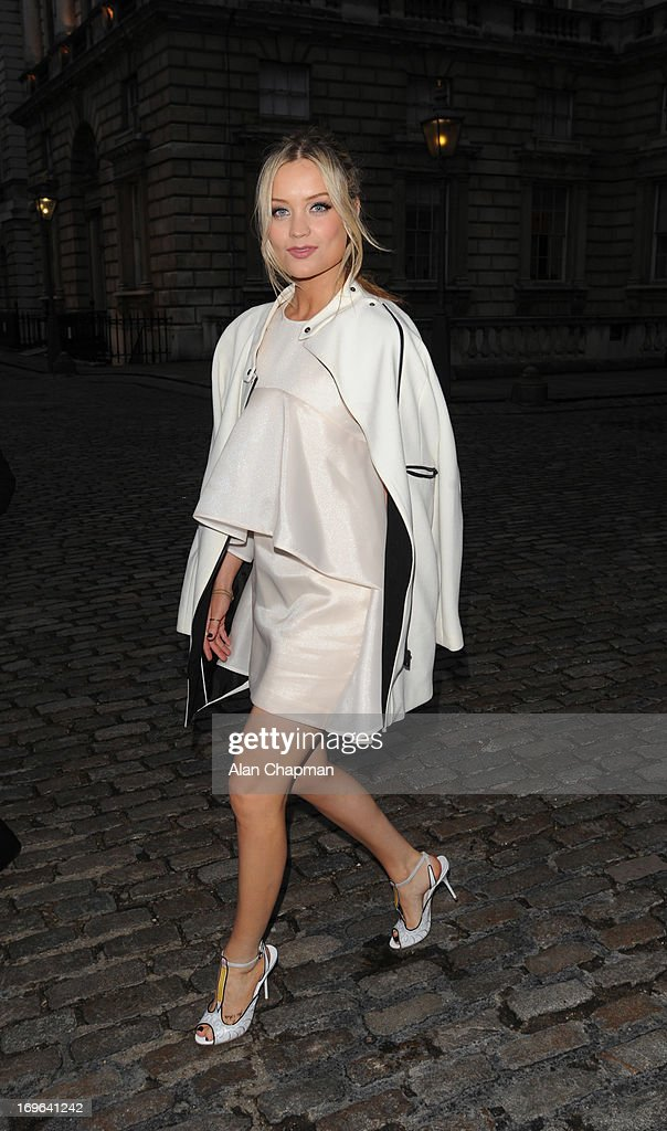 Laura Whitmore sighting arriving at the Esquire Summer Party Somerset House The Strand on May 29, 2013 in London, England.