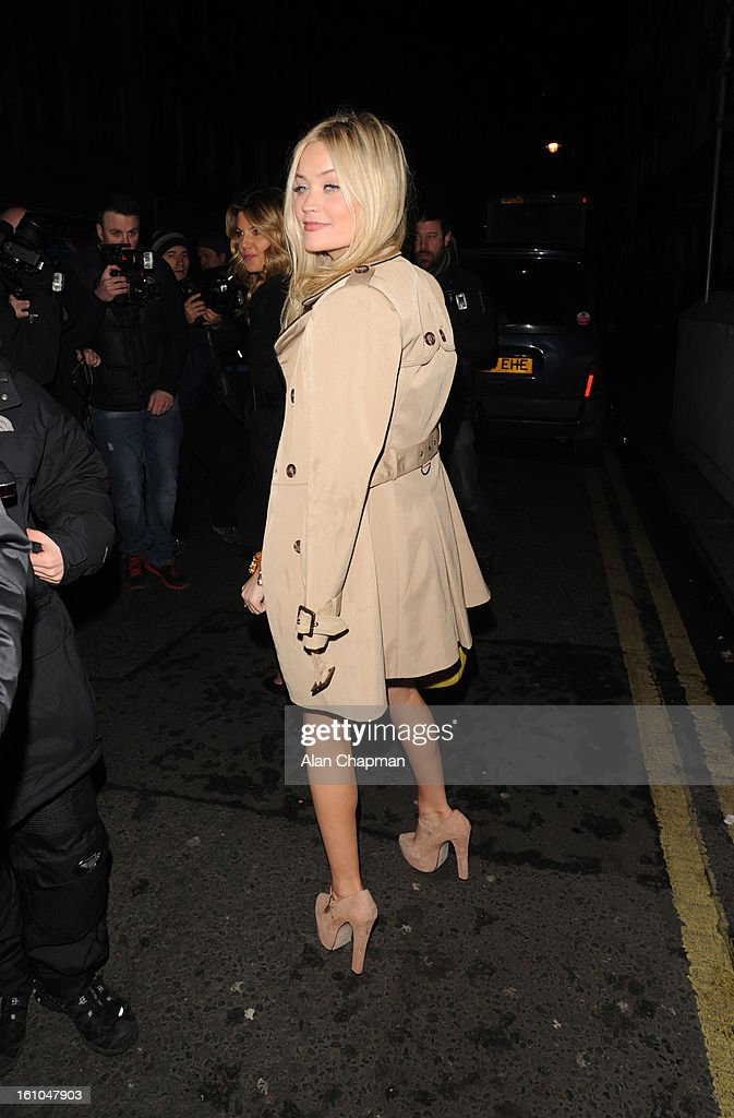 Laura Whitmore sighting at Little House Mayfair on February 8, 2013 in London, England.