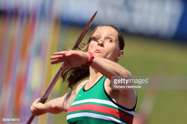 Laura Whittingham competes in the women's javelin final during the British Athletics World Championships Team Trials at Birmingham Alexander Stadium...