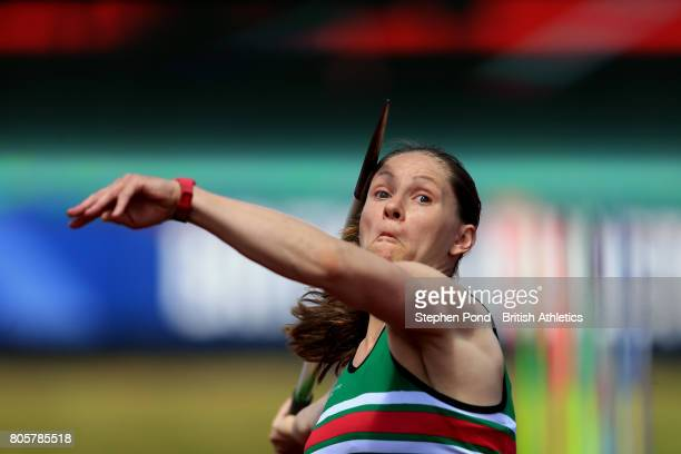 Laura Whittingham of Great Britain competes in the Women's Javelin Throw Final during day two of the British Athletics World Championships Team...