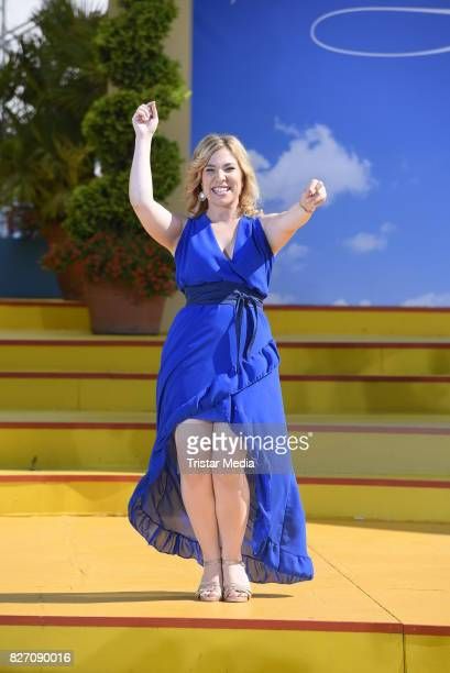 Laura Wilde during the ARD Live TV Show 'Immer Wieder Sonntags' at EuropaPark on August 6 2017 in Rust Germany