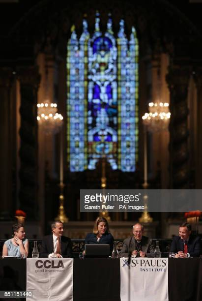 Laura Willoughby CEO of Move Your Money John Fingleton CEO of Fingleton Associates Stephanie Flanders BBC Economics Editor Archbishop of Canterbury...