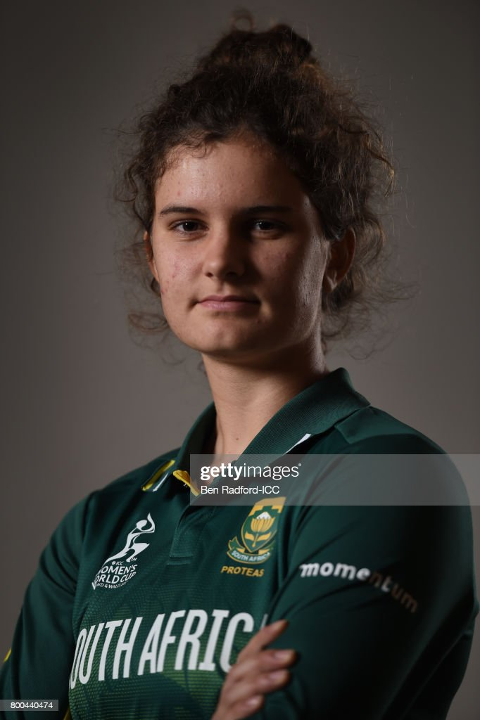 Laura Wolvaardt of South Africa on June 19, 2017 in Leicester, England.