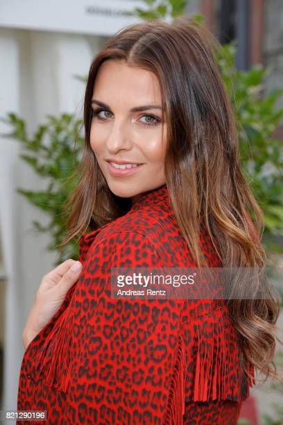 Laura Wontorra attends the 'Cabo by Milka' after party during Platform Fashion July 2017 at Areal Boehler on July 23 2017 in Duesseldorf Germany