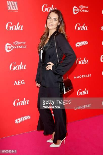 Laura Wontorra attends the Gala Fashion Brunch during the MercedesBenz Fashion Week Berlin Spring/Summer 2018 at Ellington Hotel on July 7 2017 in...