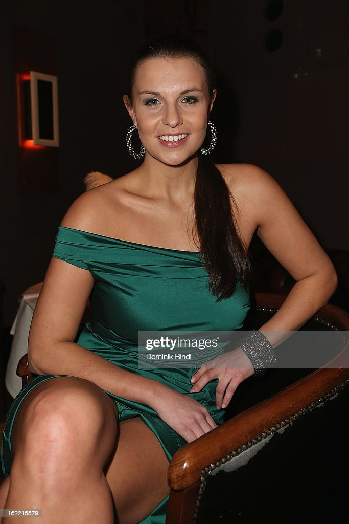Laura Wontorra attends the Lazy Moon Dinner Club opening party on February 20, 2013 in Munich, Germany.