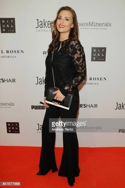 Laura Wontorra attends the PreOpening PC Weltstadthaus Koeln on September 15 2017 in Cologne Germany