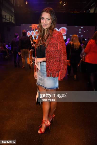 Laura Wontorra attends the Thomas Rath show during Platform Fashion July 2017 at Areal Boehler on July 23 2017 in Duesseldorf Germany
