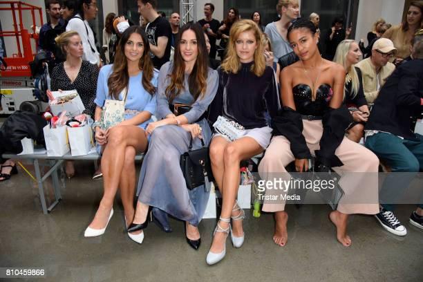 Laura Wontorra Johanna Klum Marie Nasemann and Lary Poppins attend the Marina Hoermanseder show during the Berliner Mode Salon Spring/Summer 2018 at...