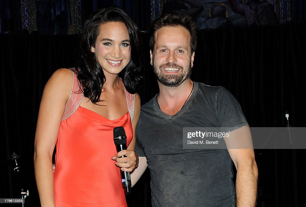 Laura Wright (L) and Alfie Boe perform at the Queen AIDS Benefit in support of The Mercury Phoenix Trust at One Mayfair on September 5, 2013 in London, England.