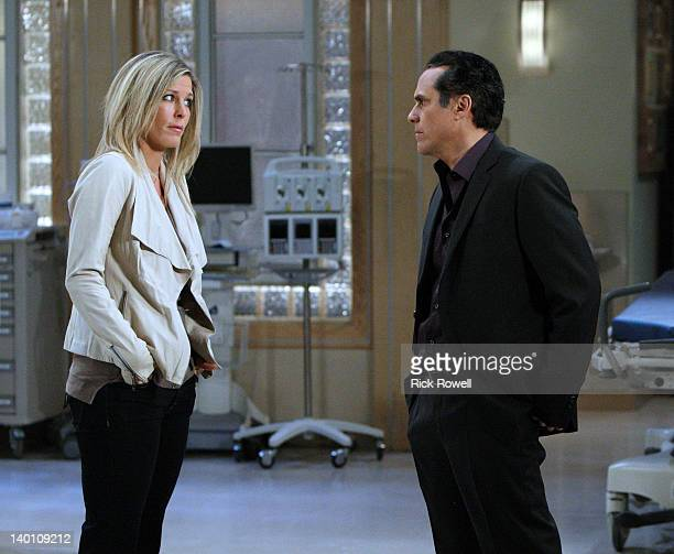 HOSPITAL Laura Wright and Maurice Benard in a scene that airs the week of February 27 2012 on ABC Daytime's 'General Hospital' 'General Hospital'...