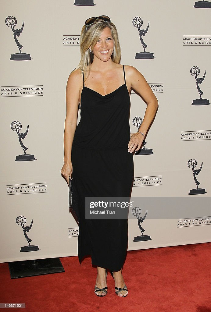 Laura Wright arrives at 39th Daytime Entertainment Emmy Awards - nominees reception held at SLS Hotel on June 14, 2012 in Beverly Hills, California.