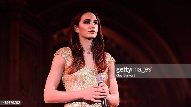 Laura Wright performs on stage at the Union Chapel on March 26 2015 in London United Kingdom