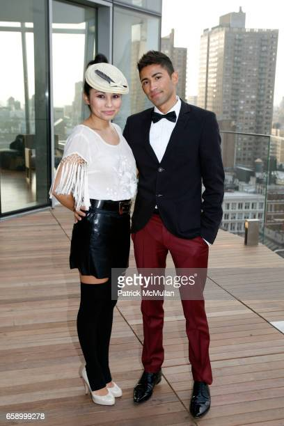 Laura Zapatu and James Vazquez attend THE COOPER SQUARE HOTEL MINIBAR EXCLUSIVES UNVEILING at Cooper Square Hotel Penthouse on April 21 2009 in New...