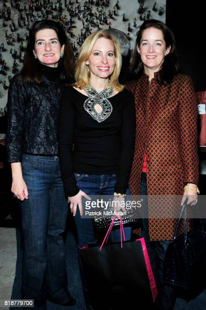 Laura Zeckendorf Gillian Miniter and Tara Rockefeller attend 'BURGUNDY BORDEAUX BLUE JEANS BLUES' A Casual Sunday Supper at DANIEL for the benefit of...