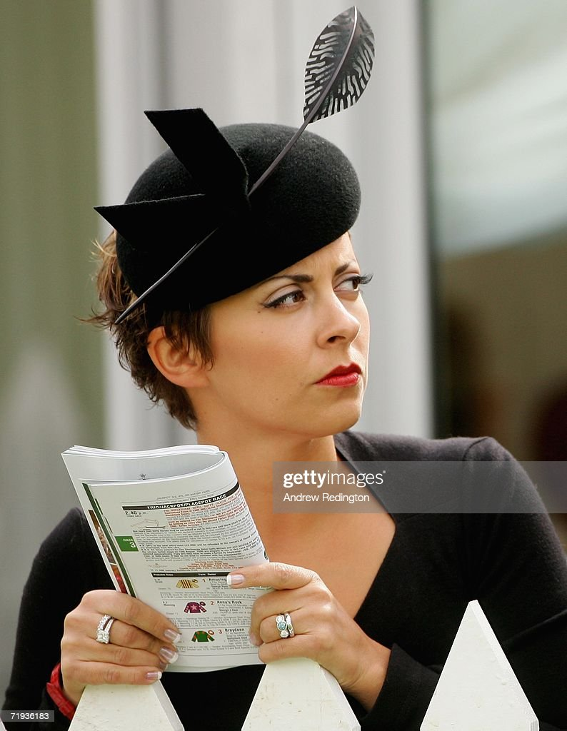 Laurae Westwood wife of Lee Westwood attends the Ryder Cup Wives Race Day at The Curragh racecourse on September 19 2006 in Naas Ireland