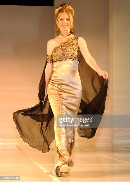 Lauralee Bell wearing Birgit Muller during City of Hope 2005 Award of Hope Gala Fashion Show and After Party at Beverly Hilton Hotel in Beverly Hills...