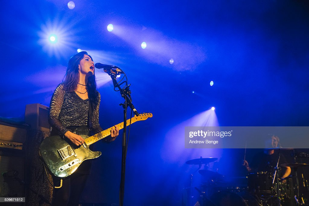Laura-Mary Carter and Steven Ansell of Blood Red Shoes perform at Beckett University during Live At Leeds on April 30, 2016 in Leeds, England.