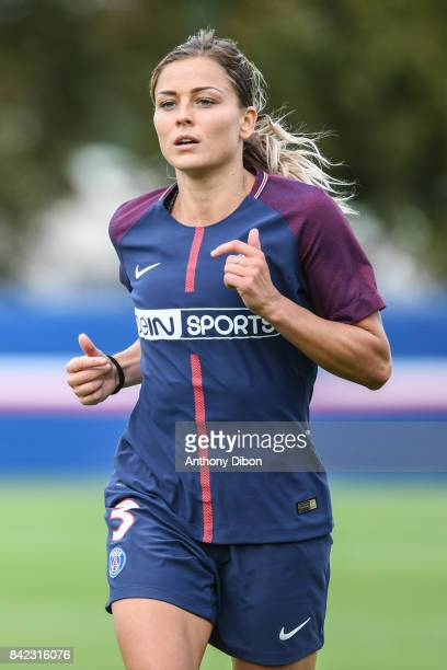 Laure Boulleau of PSG during women's Division 1 match between Paris Saint Germain PSG and Soyaux on September 3 2017 in Paris France