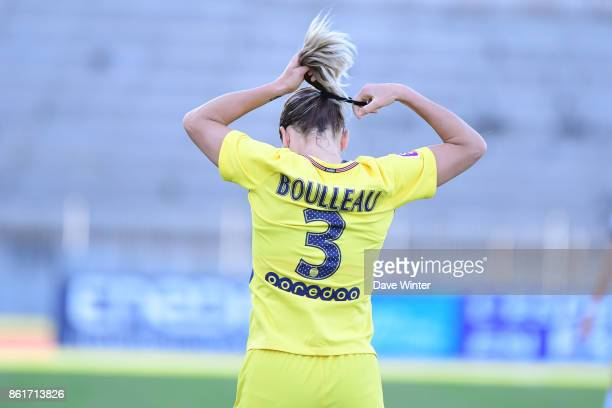 Laure Boulleau of PSG fixes her hair during the women's Division 1 match between Paris FC and Paris Saint Germain on October 15 2017 in Paris France