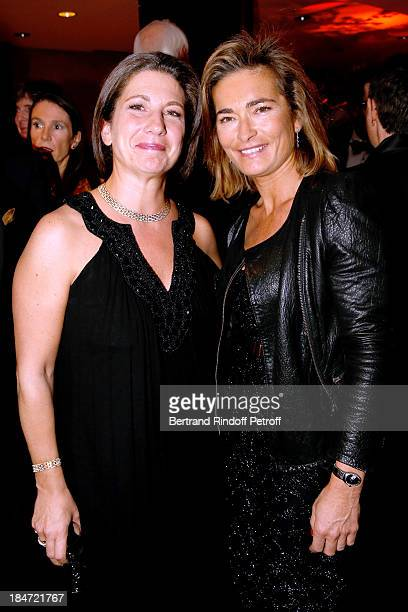 Laure Darcos and Fabienne Bazire attend AROP Gala at Opera Bastille with a representation of 'Aida' on October 15 2013 in Paris France