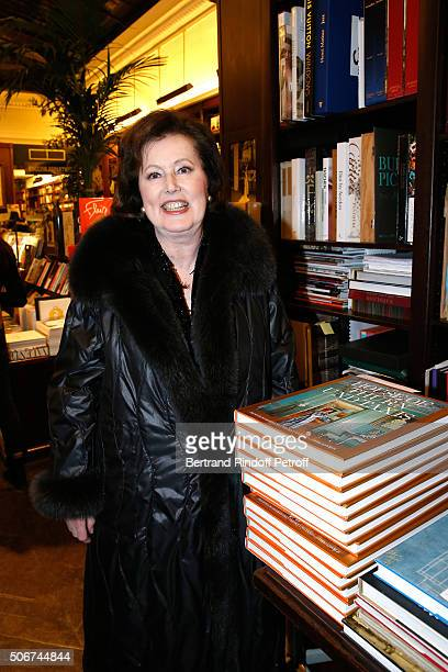 Laure de BeauvauCraon attends Princess Gloria Von Thurn und Taxis signs her Book 'The House of Thurn und Taxis' Held at Librairie Galignani on...
