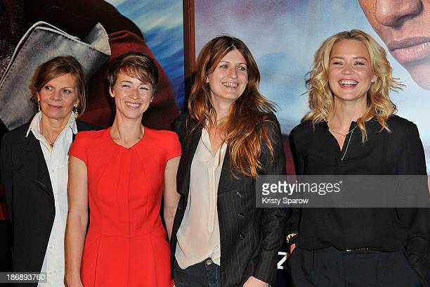 Laure Duthilleul Karine Vanasse Arly Jover and Virginie Efira attend the 'En Solitaire' Paris Premiere at Cinema Gaumont Capucine on November 4 2013...
