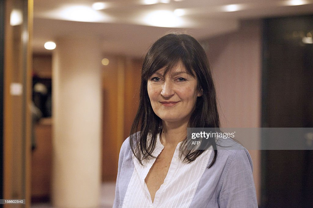 Laure Lechatellier (EELV), 7th vice-president in charge of social action, health and handicap poses after a plenary session at the Regional Council of Ile-de-France on December 20, 2012 in Paris.