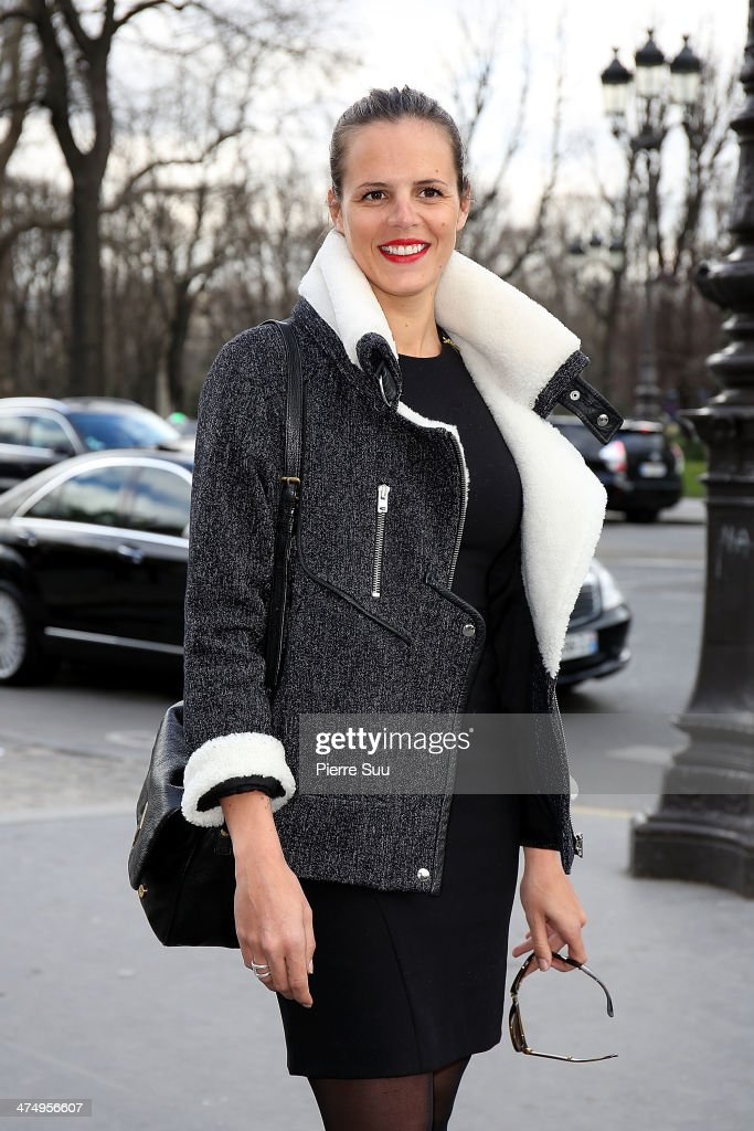 Laure Manaudou attends the Guy Laroche show as part of the Paris Fashion Week Womenswear Fall/Winter 20142015>> on February 26 2014 in Paris France