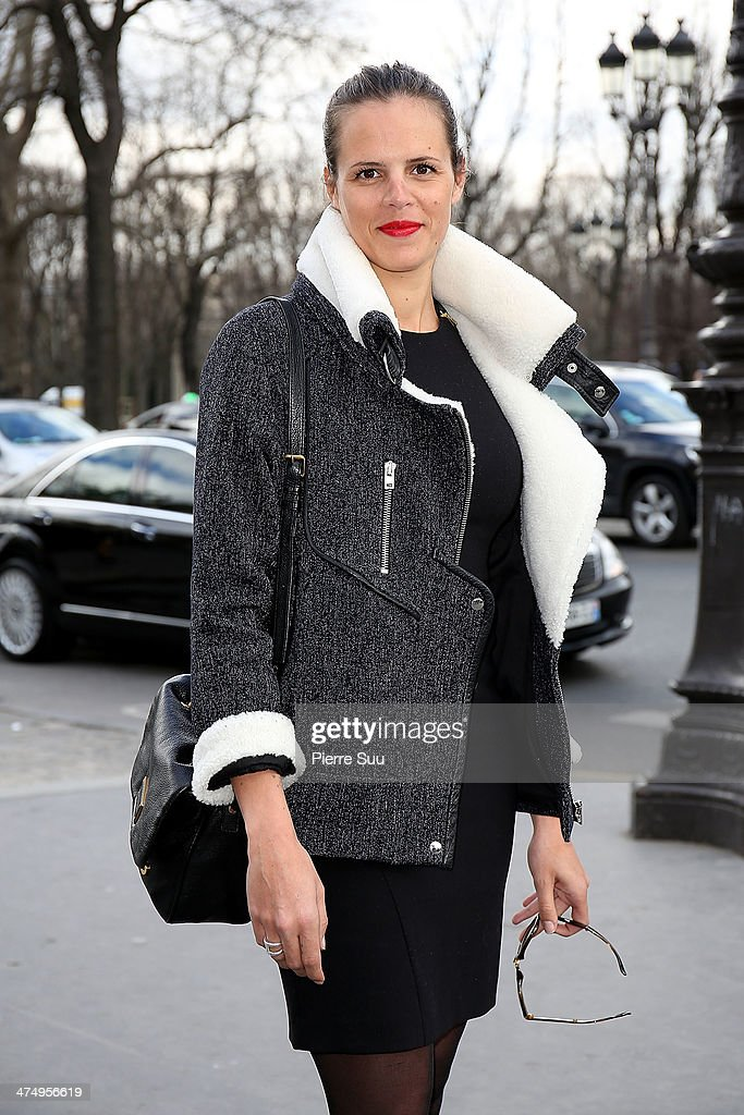 Laure Manaudou attends the Guy Laroche show as part of the Paris Fashion Week Womenswear Fall/Winter 2014-2015>> on February 26, 2014 in Paris, France.