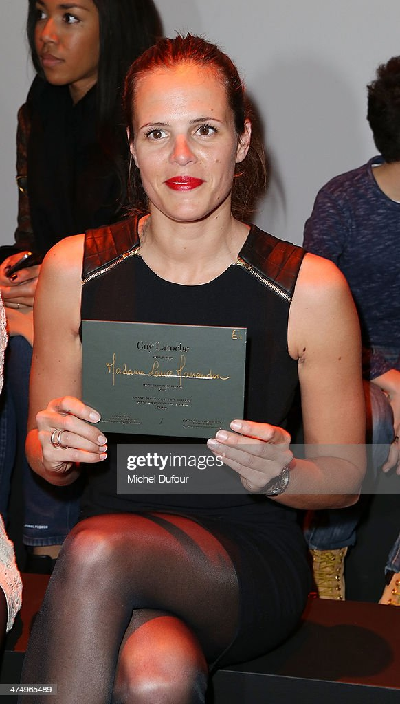 Laure Manaudou attends the Guy Laroche show as part of the Paris Fashion Week Womenswear Fall/Winter 20142015 on February 26 2014 in Paris France