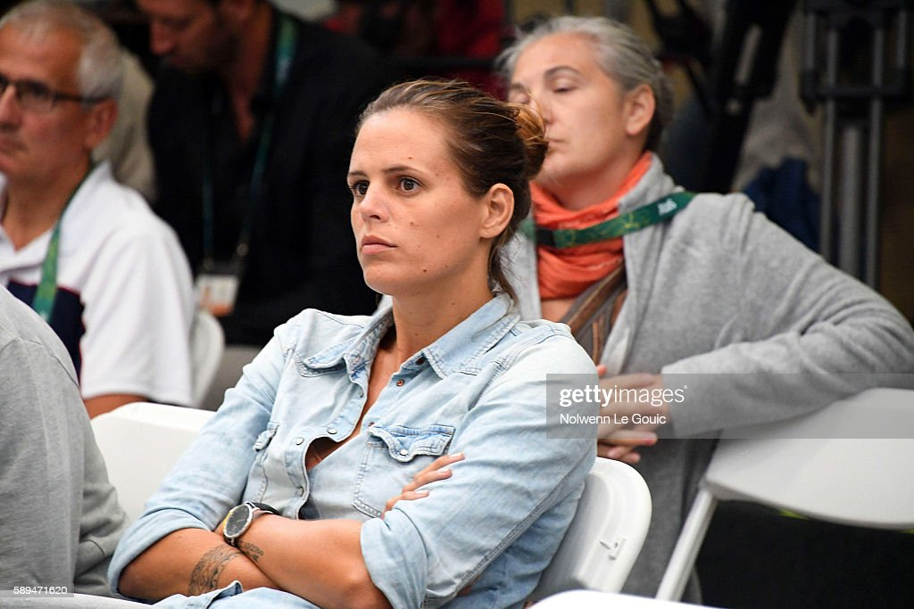 Laure Manaudou during press conference of France during Swimming on Olympic Games 2016 in Rio at Olympic Aquatics Stadium on August 13 2016 in Rio de...