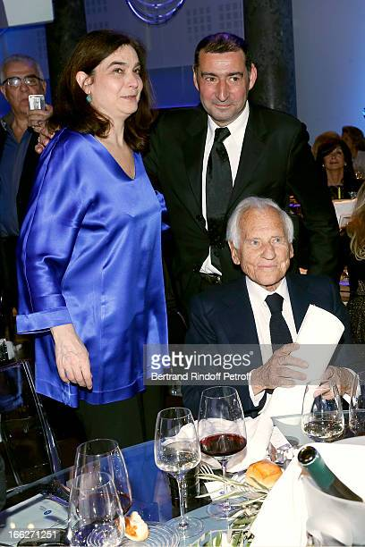 Laureat 2013 Jean d'Ormesson with daughtter Eloise D'ormesson and her husband attend 'Scopus Awards 2013' Taste of Knowledge at Espace Cambon...