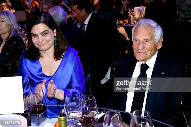 Laureat 2013 Jean d'Ormesson with daughtter Eloise D'ormesson attend 'Scopus Awards 2013' Taste of Knowledge at Espace Cambon Capucines on April 10...