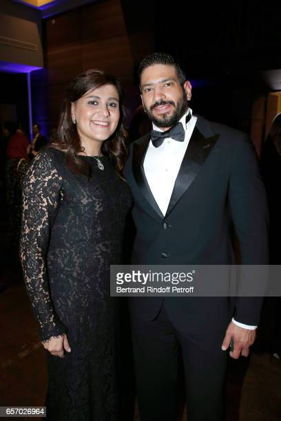 Laureate for Africa and the Arab States Professor Niveen M Khashab and her husband attend the '2017 L'Oreal UNESCO for Women in Science' 19th Awards...