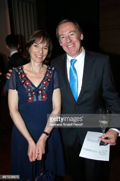 Laureate for Europe Professor Nicola A Spaldin and her husband attend the '2017 L'Oreal UNESCO for Women in Science' 19th Awards Ceremony at Maison...