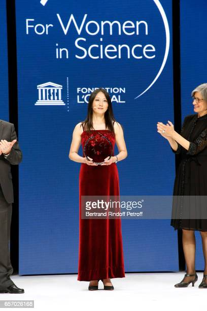 Laureate for North America Professor Zhenan Bao attend the '2017 L'Oreal UNESCO for Women in Science' 19th Awards Ceremony at Maison de la Mutualite...