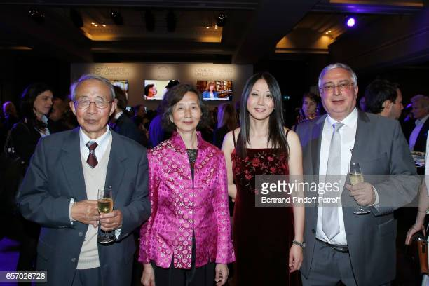 Laureate for North America Professor Zhenan Bao with her family attend the '2017 L'Oreal UNESCO for Women in Science' 19th Awards Ceremony at Maison...