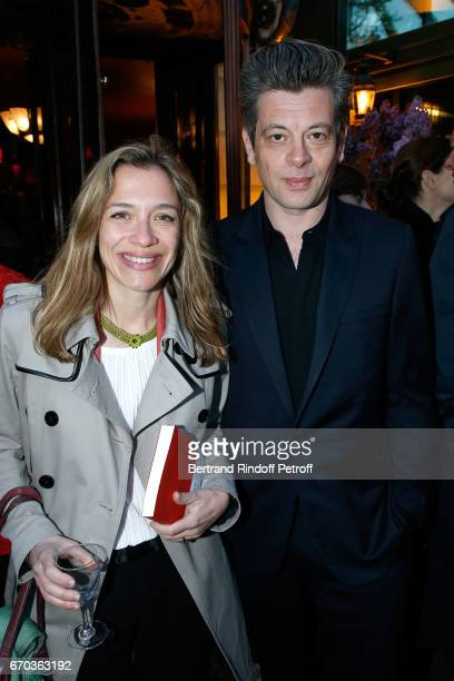 Laureate of the Price for 'Hadamar' Oriane Jeancourt Galignani and Benjamin Biolay attend 'La Closerie des Lilas' Literary Awards 2017 at La Closerie...